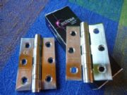 10 pairs (ie 20 hinges) of 76 X 52 X 2 MM BALL BEARING STEEL HINGES